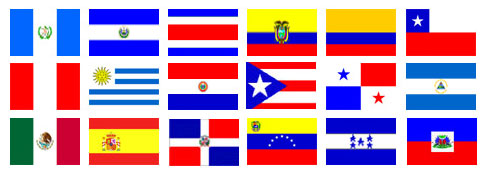 Spanish Speaking Countries Flags http://www.contactonecallcenter.com/Services.aspx?page=Bilingual_Support